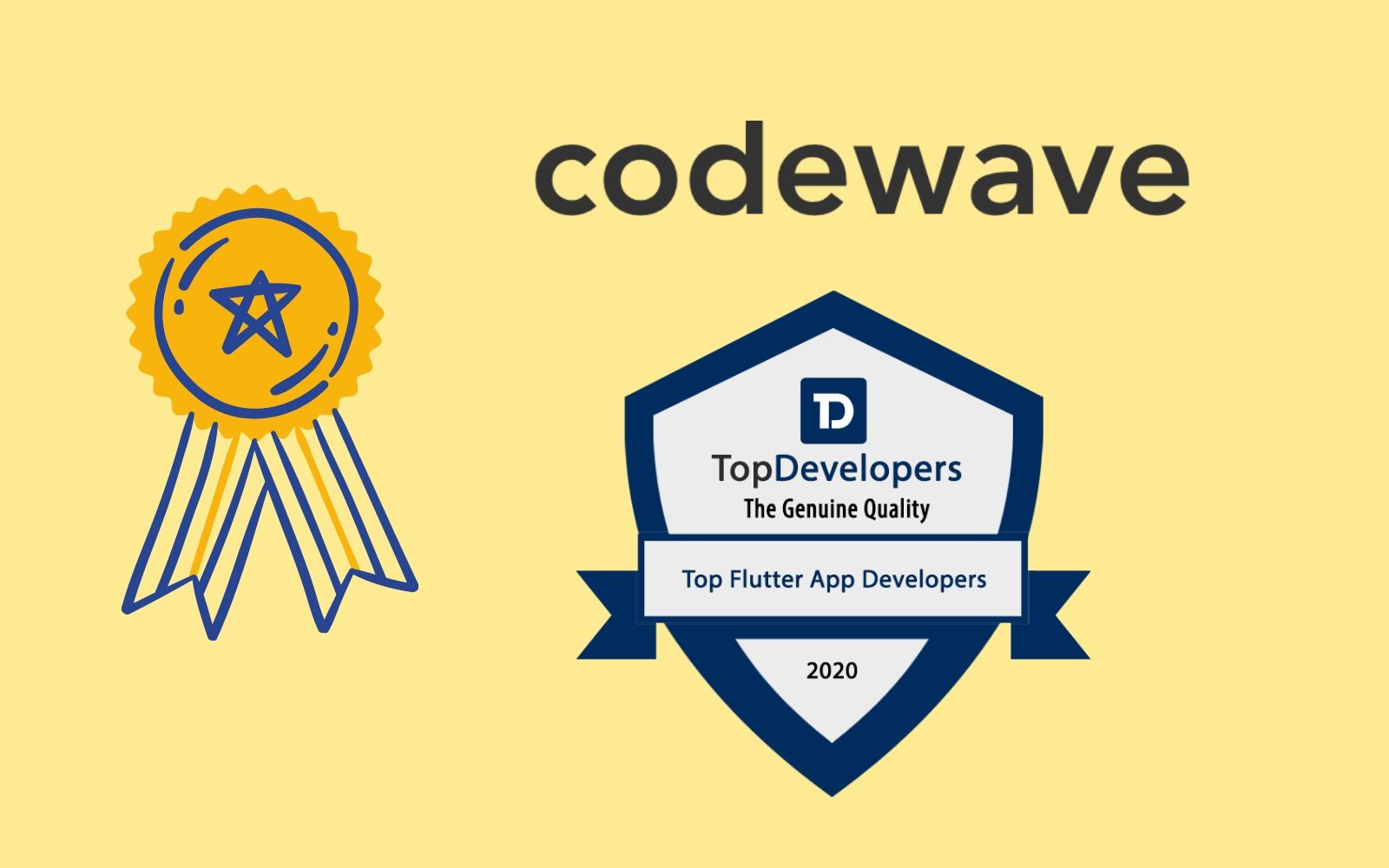 Codewave announced as a Top Flutter app development company for May 2020